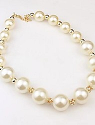 cheap -Women's Synthetic Diamond Choker Necklace Pearl Necklace Ball Ball Statement Ladies Luxury Pearl Rhinestone Alloy Necklace Jewelry For Wedding Party Special Occasion Daily