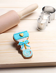 cheap -Baby Infant Bell Rattle Cookies Cutter Stainless Steel Cake Mold Metal Kitchen Baking Tools