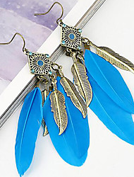 cheap -Belly Dance Jewelry Women's Performance Metal Feather Earrings