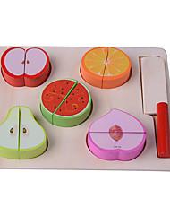 Недорогие -Игрушечная еда Ролевые игры Овощи и фрукты Ножи для овощей и фруктов Дерево Детские Игрушки Подарок