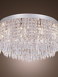 cheap -QINGMING® 55 cm Crystal / Designers Flush Mount Lights Metal Painted Finishes Traditional / Classic 110-120V / 220-240V / G4