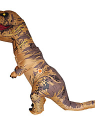cheap -Dinosaur T-Rex Cosplay Costume Halloween Props Masquerade Men's Women's Female Movie Cosplay Brown / Green / Red Christmas Halloween Carnival Polyester