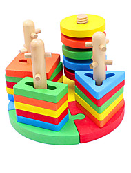 cheap -Building Blocks Jigsaw Puzzle Pegged Puzzle 24 pcs Fish compatible Legoing Cool Boys' Girls' Toy Gift / Educational Toy