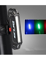 cheap -LED Bike Light Rear Bike Tail Light Safety Light LED Mountain Bike MTB Bicycle Cycling Waterproof Portable Alarm Warning USB Lithium Battery 100 lm USB Color-changing Red Blue Cycling / Bike / IPX-4