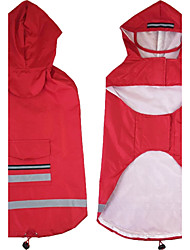 cheap -Cat Dog Hoodie Rain Coat Puppy Clothes Solid Colored Casual / Daily Waterproof Outdoor Dog Clothes Puppy Clothes Dog Outfits Red Blue Costume for Girl and Boy Dog Oxford cloth Terylene 3XL 4XL 5XL