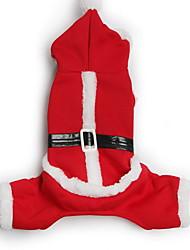 abordables -Chien Manteaux Pantalons Vêtements pour Chien Costume Coton Bande dessinée Noël S M L XL