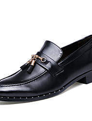 cheap -Men's Shoes Faux Leather Spring / Summer / Fall Formal Shoes Oxfords Walking Shoes Black / Dark Brown / Tassel / Wedding / Party & Evening