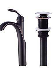 cheap -Contemporary Centerset Ceramic Valve One Hole Oil-rubbed Bronze, Faucet Set Bath Taps
