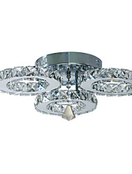 cheap -1-Light 50 cm Crystal Flush Mount Lights Metal Electroplated Modern Contemporary 90-240V
