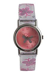 Недорогие -Дамы Наручные часы Японский Японский кварц Нержавеющая сталь Розовый / Аналоговый На каждый день Мода - Прозрачный