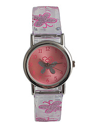 cheap -Ladies Wrist Watch Japanese Japanese Quartz Stainless Steel Pink / Analog Casual Fashion - Transparent