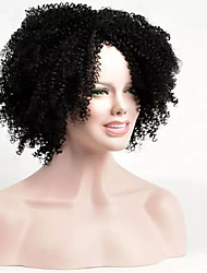 cheap -afro kinky wig black color hot sale heat resistant synthetic wig