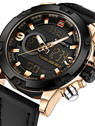 cheap -Men's Sport Watch Military Watch Wrist Watch Digital Genuine Leather Black / Brown / Grey 30 m Calendar / date / day Creative Noctilucent Analog - Digital Charm Luxury Vintage Casual Fashion - Coffee