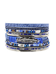 cheap -Women's Leather Bracelet Vintage Bohemian Fashion Turkish Leather Bracelet Jewelry Blue For Christmas Gifts Wedding Party Special Occasion Anniversary Birthday