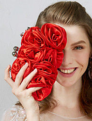 cheap -Women's Flower Nylon Evening Bag Wedding Bags Apricot / Black / Red / Fall & Winter