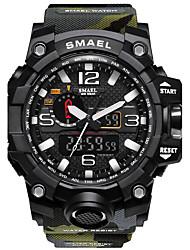 Недорогие -Для пары Спортивные часы Армейские часы Часы-браслет Кварцевый Цифровой Черный / Синий / Красный 30 m Защита от влаги Календарь Творчество Аналого-цифровые / Светящийся / Хронометр / Фосфоресцирующий