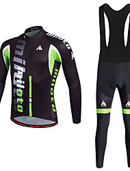 cheap -Miloto Men's Cycling Jersey with Bib Tights - White Bike Clothing Suit Polyester, Lycra Patchwork / Quick Dry / Stretchy