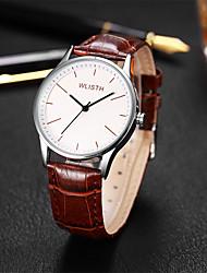 cheap -Men's Fashion Watch Quartz Casual Analog White Black / Leather