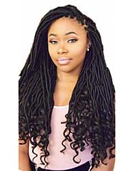 Недорогие -Кудрявый дредлоки Дреды / Faux Locs Омбре Искусственные волосы косы Средние Волосы для кос 1шт / уп 24 корня / пакет / Есть 24 корня в одной части. Обычно для полной головки достаточно 5-10 штук.