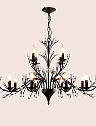 cheap -LightMyself™ 112 cm Crystal / LED Chandelier Metal Painted Finishes Modern Contemporary 110-120V / 220-240V