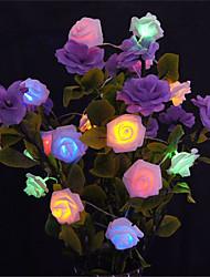 cheap -5M 20 LED Battery Operated String Flower Rose Fairy Light Christmas Decor (warm whiteWhitePinkYellowMulti ColorGreenRedPurpleBlue)