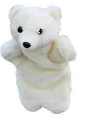 Недорогие -Пальцевые куклы Новогодние подарки Марионетки Милый стиль Животные Милый Медведи Полярный медведь Плюшевая ткань Плюш Детские Игрушки Подарок