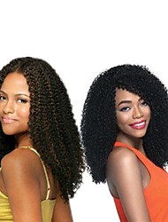 cheap -Popular In USA Crochet braids synthetic Jerry Curl Pre-loop Crochet Braids Natural Black Hair Braids 14Inch Kanekalon 5 Package For Full Head