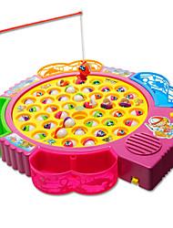 Недорогие -Рыболовные игрушки Музыкальная Игрушка Вращающаяся Рыбалка Игрушка Электрический 4 игрока Пластик Детские Игрушки Подарок