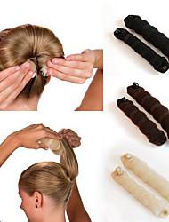cheap -2Pcs Magic Style Hair Styling Tools Buns Braiders Curling Headwear Hair Rope Hair Band Accessories