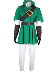 cheap -Inspired by The Legend of Zelda Link Deluxe Video Game Cosplay Costumes Cosplay Suits Patchwork Half Sleeve Coat Shirt Pants Costumes