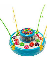 Недорогие -Рыболовные игрушки Музыкальная Игрушка Вращающаяся Рыбалка Игрушка Электрический Семейное взаимодействие 2 игрока Пластик Детские Игрушки Подарок