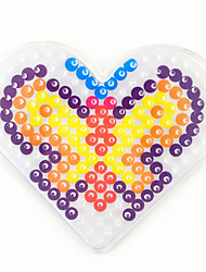 cheap -Drawing Toy / Fuse beads Novelty / Cartoon / Heart 5mm Template Plastic Boys' Kid's / Adults' Gift 1 pcs