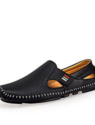 cheap -Men's Comfort Shoes Microfiber Spring / Summer Sandals Walking Shoes Black / White / Blue / Casual / Outdoor / EU40