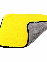 cheap -ZIQIAO 45*38CM Thickened Double-sided Coral Fleece Car Towel Car Drying Wash Detailing Buffing Polishing Towel
