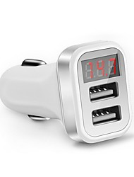 cheap -LED Screen Car Charger QC 2.0 Dual Usb Charger Socket 2.1A Mobile Phone Charging Adapter