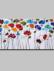 cheap -Oil Painting Hand Painted - Floral / Botanical Modern European Style Stretched Canvas