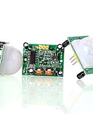 Недорогие -Hc-sr501 настроить ИК-пироэлектрический инфракрасный датчик движения датчика движения (3 шт.)
