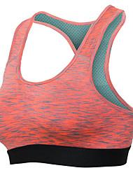 cheap -Women's Sports Bra Top Sports Bra Bralette Racerback Elastane Yoga Running Breathable Anti-Shake / Damping Shockproof Padded Medium Support Black Violet Green Red Blue / Quick Dry / High Elasticity