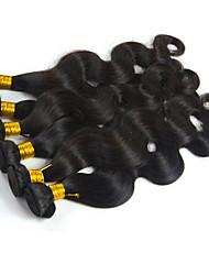 cheap -3 Bundles Peruvian Hair Body Wave Remy Human Hair 100% Remy Hair Weave Bundles 300 g Natural Color Hair Weaves / Hair Bulk 8-26 inch Natural Color Natural Black Human Hair Weaves Shedding Free Tangle
