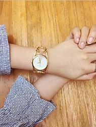 cheap -Women's Bracelet Watch Wrist Watch Quartz Stainless Steel Silver / Gold Creative Casual Watch Cool Analog Vintage Casual Bangle Fashion Elegant - Black / Gold Gold / White Black / Silver