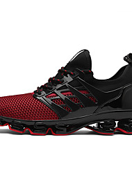 cheap -Men's Suede Shoes Suede / Tulle Spring / Summer Athletic Shoes Running Shoes Black / Black / Red / Black / Green / Novelty Shoes