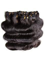 cheap -Brazilian Hair Body Wave Human Hair Natural Color Hair Weaves / Hair Bulk Human Hair Weaves Human Hair Extensions