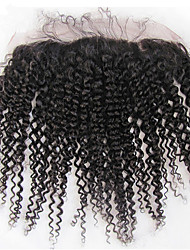 cheap -brazilian kinky curly remy human 13x2 inch full lace frontal closure ear to ear