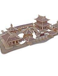 Недорогие -Пазлы 3D пазлы Строительные блоки Игрушки своими руками Архитектура Дерево Модели и конструкторы