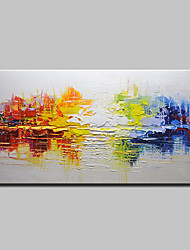 cheap -Oil Painting Hand Painted - Abstract Modern European Style Stretched Canvas