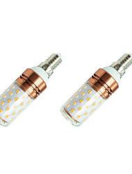 cheap -2pcs 8 W LED Corn Lights 800 lm E14 T 60 LED Beads SMD 2835 Warm White White / 2 pcs