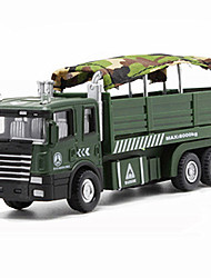 cheap -Tank Military Transport Truck Toy Truck Construction Vehicle Toy Car Model Car Music & Light Pull Back Vehicles Boys' Girls' Kid's Car Toys