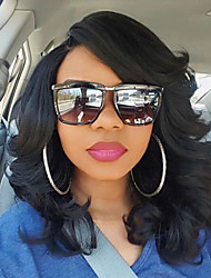 cheap -Remy Human Hair Glueless Lace Front Lace Front Wig Bob Side bangs style Brazilian Hair Loose Wave Wig 180% Density with Baby Hair Natural Hairline African American Wig 100% Hand Tied Women's Short