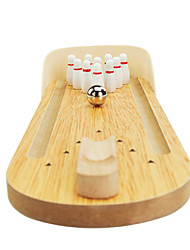 cheap -Desktop Bowling Board Game Bowling Toy Mini Professional Wooden Novelty Kid's Adults' Boys' Girls' Toy Gift