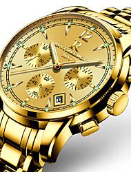 Недорогие -ONTHEEDGE Муж. Спортивные часы Армейские часы Наручные часы Японский Кварцевый Трехглазый Шести игольный Нержавеющая сталь Черный / Серебристый металл / Золотистый 30 m / Два года / Защита от влаги
